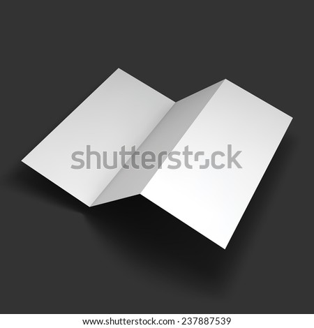 Blank trifold paper brochure mockup Object for design and branding Vector Illustration EPS10
