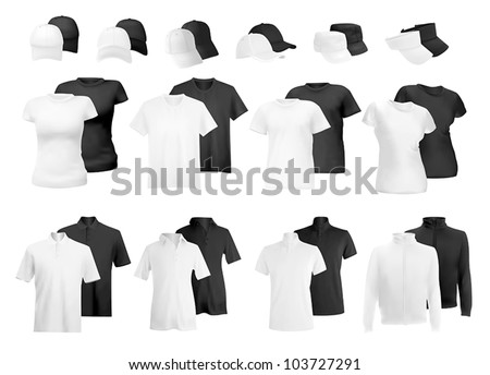 Blank uniform: polo shirts, t-shirts, hoodie and hats.