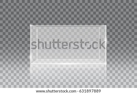 Blank vector aquarium on a checkered background, vector illustration