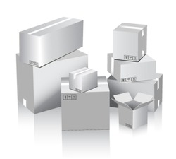 blank vector boxes