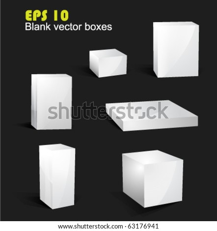 Blank vector boxes EPS 10