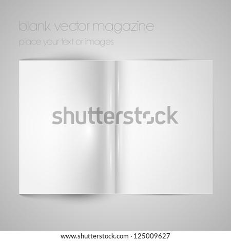 Blank vector magazine paper
