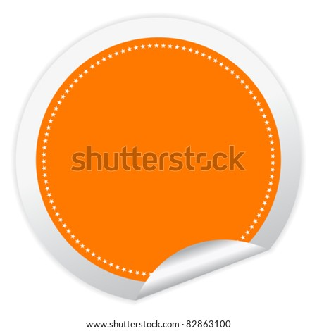 Blank vector sticker with curled corner