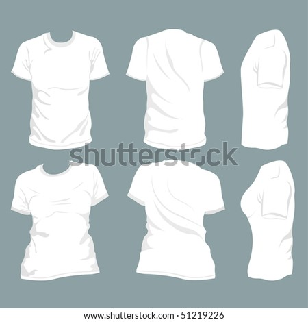 t shirt template vector. Vector t shirt template