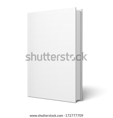 blank vertical book cover