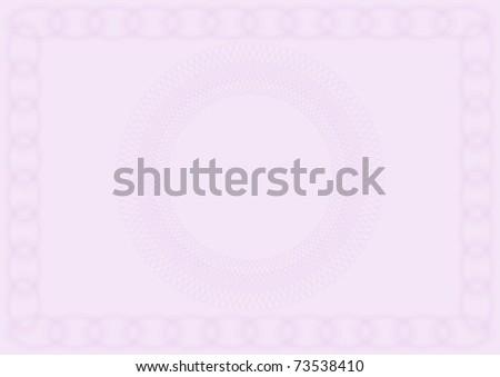 Blank Violet Certificate
