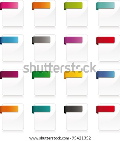 Blank wabe page icons. Vector