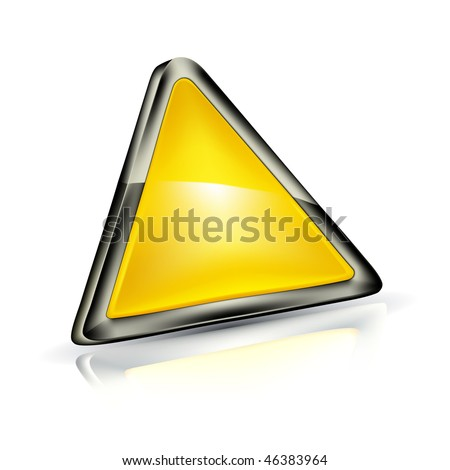 stock vector : Blank Warning Triangle, mesh