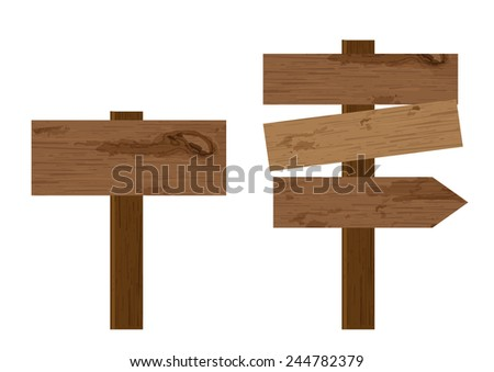 blank way finding plank wooden