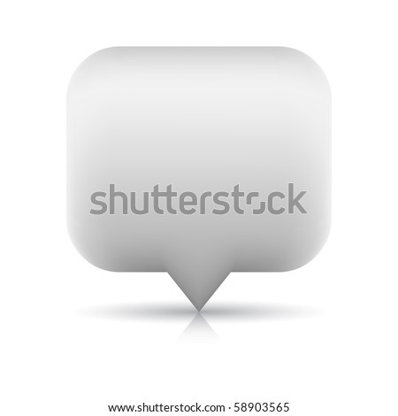 Blank web button navigation map pin icon with reflection and shadow on white