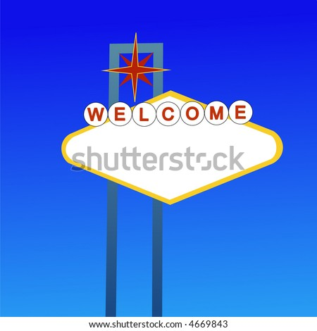 welcome to las vegas sign vector. stock vector : Blank welcome