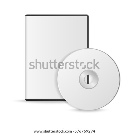 blank white compact disk with