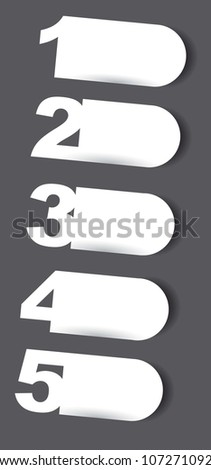 blank white design template numbered. vector illustration