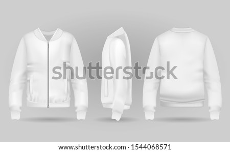 blank white jacket bomber in