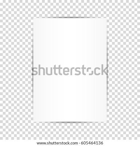 Blank white paper sheets. Vector illustration of design for business presentation, flyers, business cards.