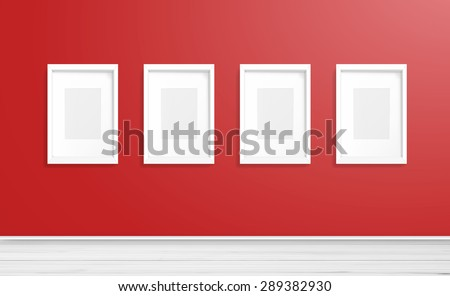 blank white picture frame on