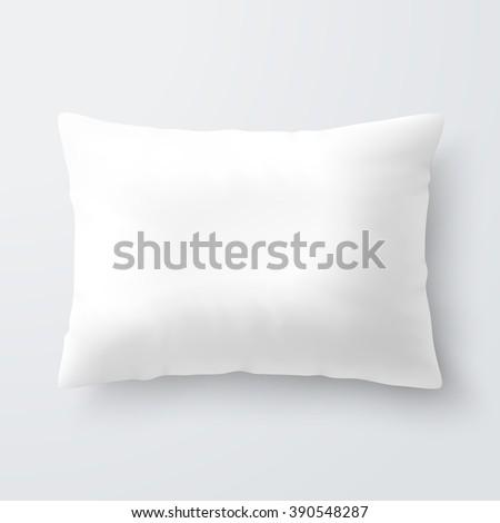 blank white rectangular pillow