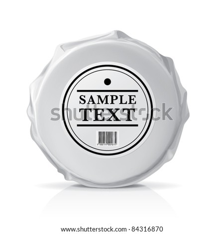 Blank white round package for new design. Eps10 vector - stock vector
