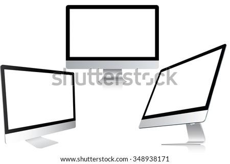 blank white screen computer