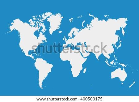 blank white simillar world map