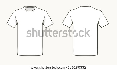 blank white t shirt template