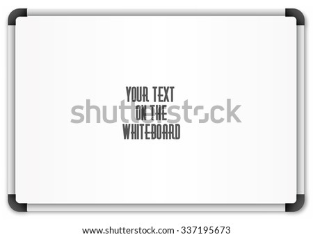 Blank whiteboard