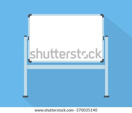 Blank whiteboard - Flat style