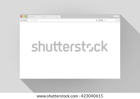 Blank window of internet browser