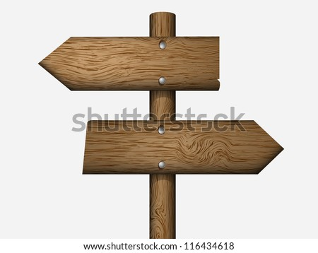blank wooden sign boards