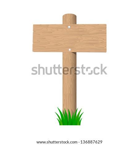 blank wooden signboard. vector...