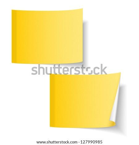 Blank Sticky Paper Blank Yellow Paper Sticky