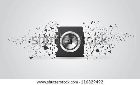 Blast Black Loud Speaker. Background