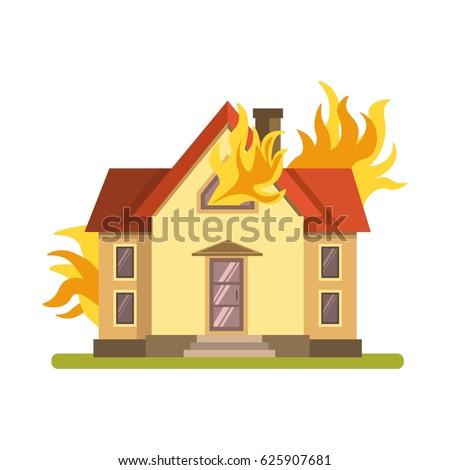 blazing double decker house