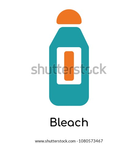 bleach icon isolated on white