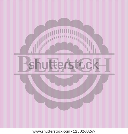 bleach retro pink emblem