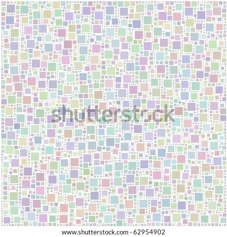 Bleached harlequin background of little squares - stock vector
