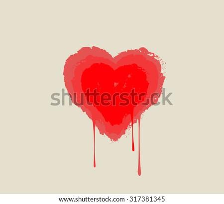 bleeding heart heart melting