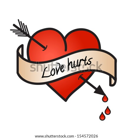 bleeding heart with love hurts