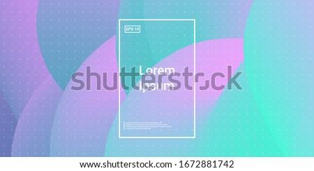 Blend Cover Light Poster. Minimal Creative VectorTemplates. Saturated Creative Concept. Blue, Teal, Purple Futuristic Background. Modern Horizontal Composition. Abstract  Dynamic Illustration.