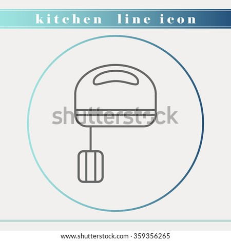 Restaurant Kitchenware blender or mixer outline thin line icon. household appliance