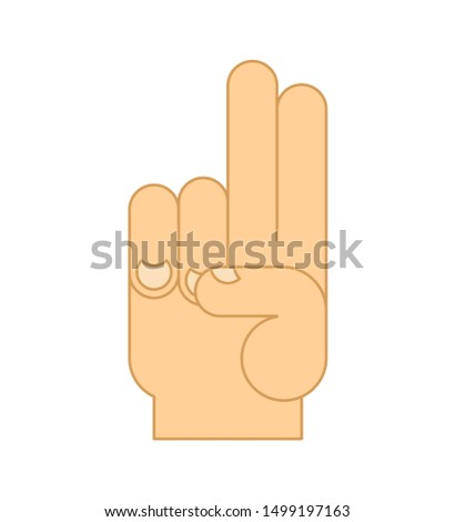 Blessings hand isolated. Religion sign fingers. vector illustration