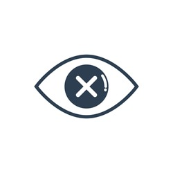 Blind eye icon, Vector and Illustration.