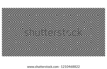 blinking lines visual  illusion featuring  year 2019 - line pattern design