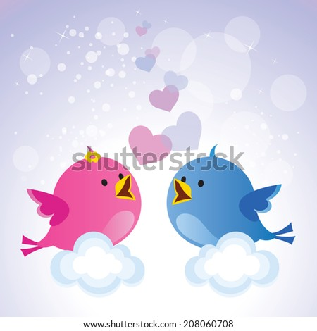 Love Bird Pictures Cartoon Little Love Birds Cartoon