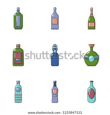 blister icons set flat set of