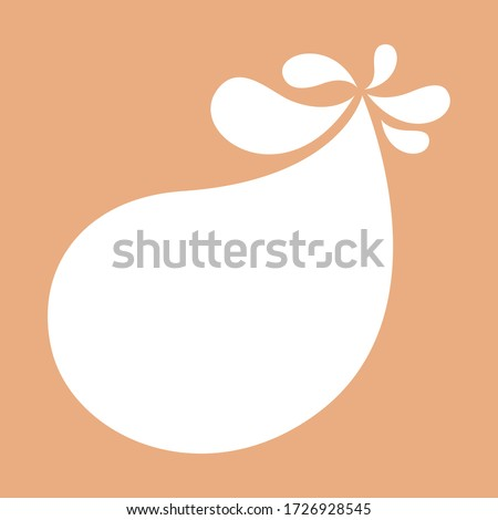 blob shape on brown pastel soft for banner copy space, aqua background, white milk blob splash on cocoa brown, water blobs droplet wave shape for banner, milk blob simple for graphic ad design, vector