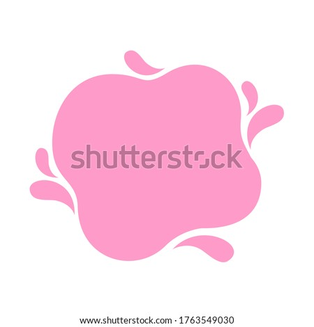 blob shape pink soft for banner copy space, milk pink for background, water blob splash pink pastel color, water blobs droplet wave shape for banner, blob round shape simple for flat graphic, vector