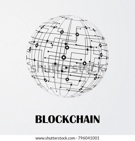Block chain smart contracts vector design