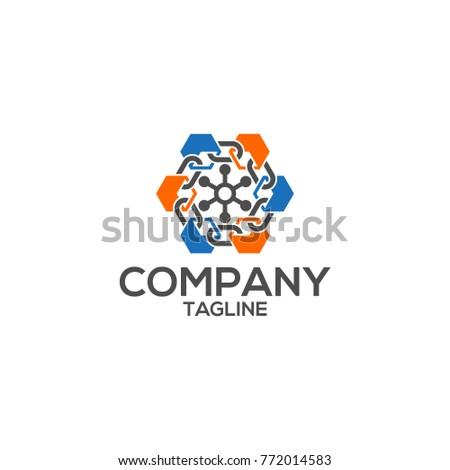 block chain vector logo