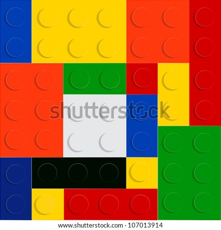 Block lego seamless pattern vector illustration